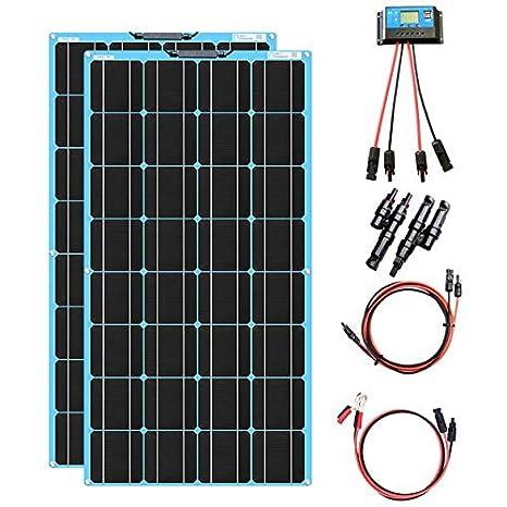 XINPUGUANG 200W kit de Panel Solar 2pcs 100w módulo monocristalino ...
