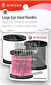 Singer Large Eye Hand Needles with Storage Magnet' Assorted Sizes