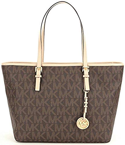 (michael kors jet set travel brown Tote)