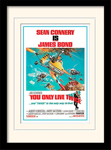 James Bond You Only Live Twice One Sheet Framed & Mounted Print - Overall Size: 36 x 46 cm (14 x 18 inches) Mount Size: 30 x 40 cm