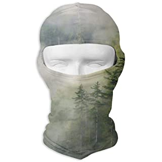 Balaclava Full Face Mask Foggy Forest Windproof UV Protection Neck Hood Ski Mask for Motorcycle Cycling Outdoor Sports