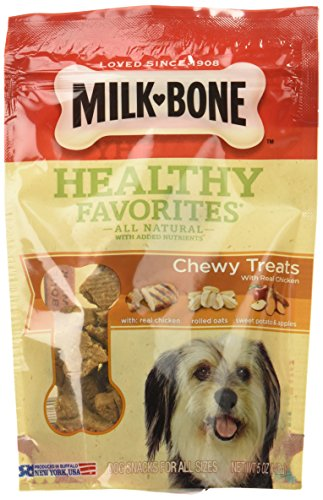 Milk-Bone Healthy Favorites Chewy Treats With Real Chicken, 5-Ounce ()