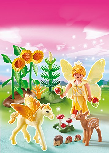 Playmobil-Hadas-Hada-de-otoo-con-beb-Pegaso-5353