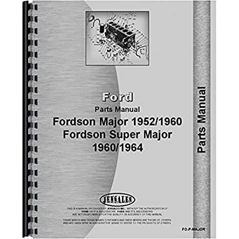 Amazon New Ford 4000 Major Tractor Parts Manual Industrial