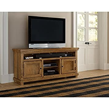 Progressive Furniture Willow Distressed Pine 64u0026quot; Console