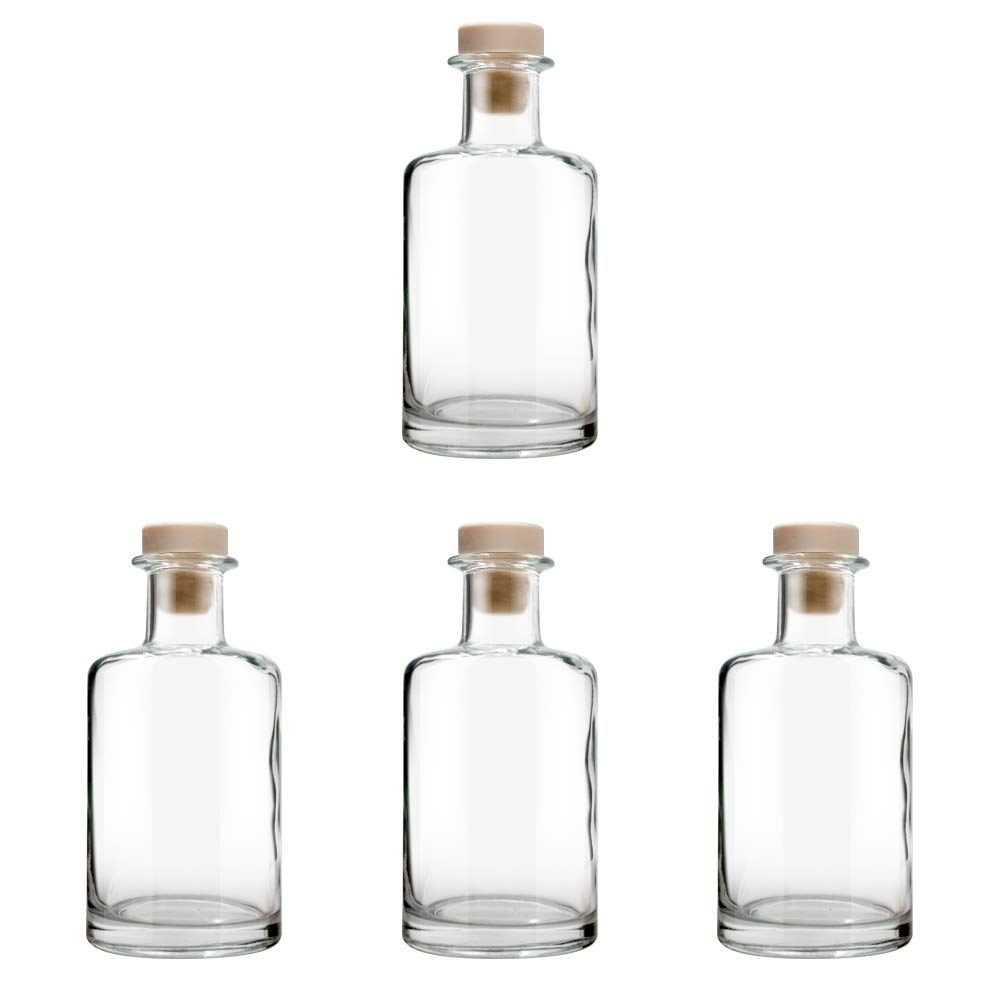 Feel Fragrance  Glass Diffuser Bottles Diffuser Jars with Cork Caps Set of 4 - 5.3 inches High, 240ml 8.2 Ounce. Fragrance Accessories Use for DIY Replacement Reed Diffuser Sets. by Feel Fragrance  (Image #3)