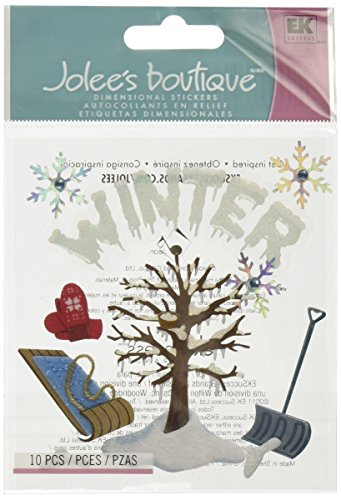 JOLEES Boutique Themed Ornate Stickers, Winter