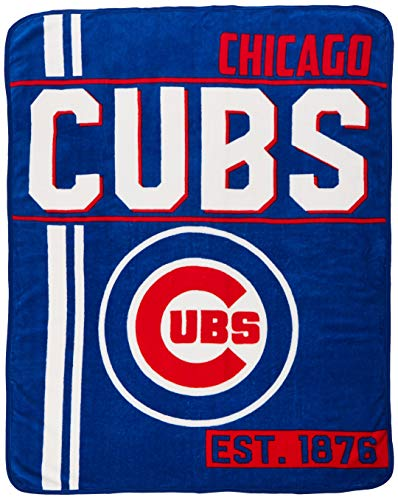(MLB Chicago Cubs Super Plush Throw Blanket (D132))