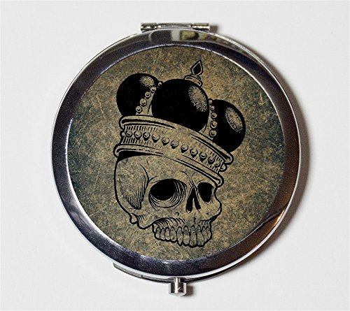 Mirror Crowned Royalty Royal Skeleton Goth for Makeup Cosmetics (Crown Compact Mirror)