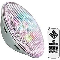 Lámpara LED PAR56 RGB para piscinas, G53, 45W