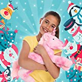 """GirlZone: Large 18"""" Pink Plush Stuffed Fluffy Unicorn Animal. Ideal Christmas, Birthday Present Gifts for Girls Aged 3 4 5 6 7 8 9 Years Old"""