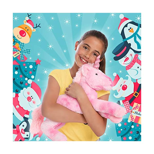 GirlZone Stuffed Pink Plush Unicorn for Girls, Large-18 Inches, Glitter Horn, Great Birthday Gift Idea 4