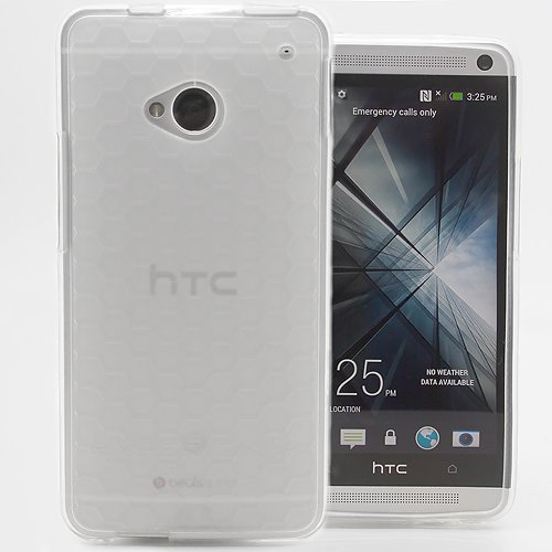 Matte Frost Combs - Hyperion HTC One M7 HoneyComb Matte Flexible TPU Case and Screen Protector (Compatible with Sprint HTC One, T-Mobile HTC One, and AT&T HTC One) Hyperion Retail Packaging (Frost Clear)