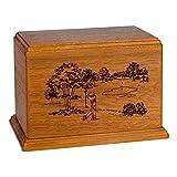 Wood Cremation Urn - Mahogany Golf