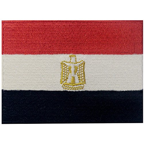 Egypt Flag Embroidered Patch Egyptian Arab Iron On Sew On National Emblem