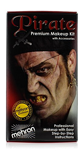 Kids Pirate Makeup (mehron Premium Character Makeup Kit Pirate)
