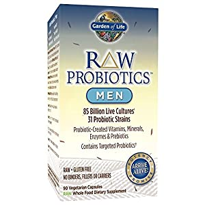 Garden of Life Whole Food Probiotic for Men - Raw Probiotics Men Dietary Supplement, 90 Vegetarian Capsules
