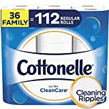 Cottonelle Ultra CleanCare Toilet Paper, Strong Bath Tissue, Septic-Safe, 36 Family+ Rolls: more info