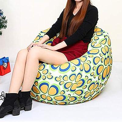 Amazon.com: Puf para sofá o silla, sin relleno, para sala de ...