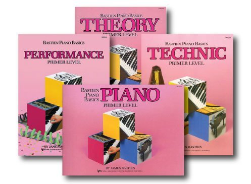 Bastien Piano Basics Primer Level - Learn to Play Four Book Set - Includes Primer Level Piano, Theory, Technic, and Performance Books by Bastien