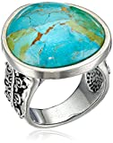 "Barse ""Manuscript"" Genuine Turquoise Sterling Ring, Size 8"