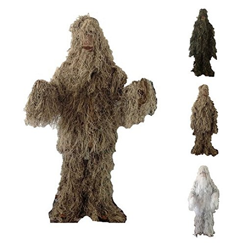 TeeNoke Outdoor Ghillie Suits Hunting Camouflage 3D Leaf Tactical Military Uniform Wildlife Photography price