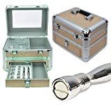 Vacuum Microdermabrasion Portable Machine NEW SPA HOME Skin Care Kit (Peach with Mirror)