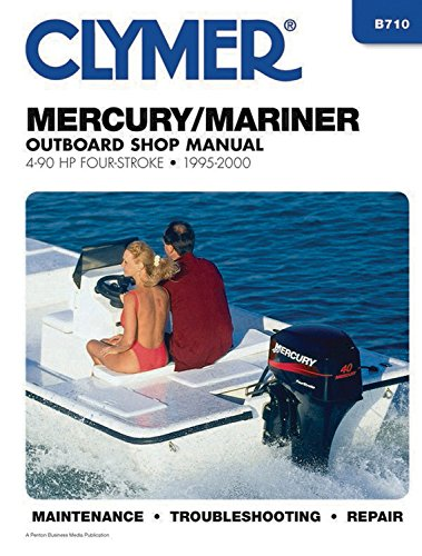 Mercury/Mariner Outboard Shop Manual: 4-90 HP Carbureted Four-Stoke 1995-2006 (Clymer Manuals) (Hp Manual)
