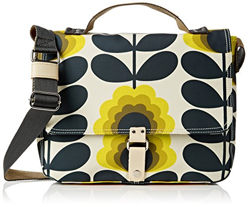 Orla Kiely Summer Flower Stem Satchel, Sunshine by Orla Kiely