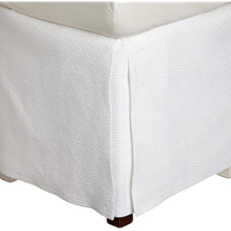 Peacock Alley Montauk Bedskirt California King White