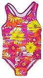 Speedo Big Girls' Solid Infinity Splice One Piece Swimsuit (5, Pink Orange Flower)