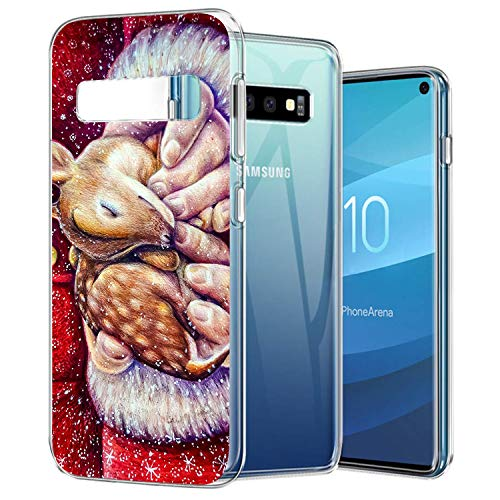 (Case Compatible with KASOS for Samsung Galaxy S10e Christmas Deer Painting Soft Case TPU Ultra Slim Side Scratch Resistance)