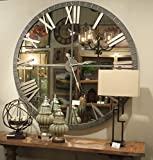 Cheap XL 60″ Mirrored Round Wall Clock | Oversize Modern Mirror Glass