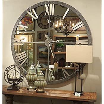 Amazon Com My Swanky Home Xl 60 Quot Mirrored Round Wall