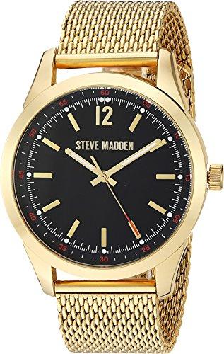 (Steve Madden Men's Analog-Quartz Watch with Alloy Strap, Gold, 22.352 (Model: SMW068G))