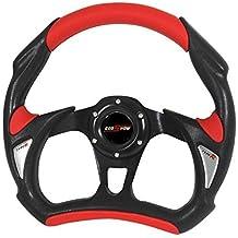 RXMOTOR WHEEL-002BR Universal Fit JDM Battle Racing Steering Wheel New, Red