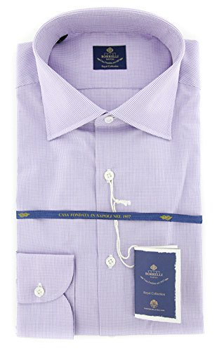 new-luigi-borrelli-purple-micro-check-extra-slim-shirt