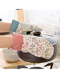 Investment 1pcs Print oven mitts high-temperature Kitchen microwave oven gloves cotton thicker insulation slip-resistant... deal