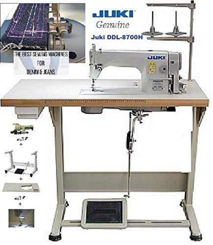 Juki Industrial Lockstitch for Heavy Materials w/iKonix 0.5 HP Servo Motor, Table, LED Lamp.Assembly Required. ()