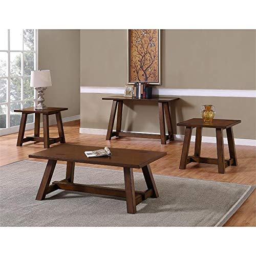 Bernards Winslow Cherry 3 Piece Coffee Table Set