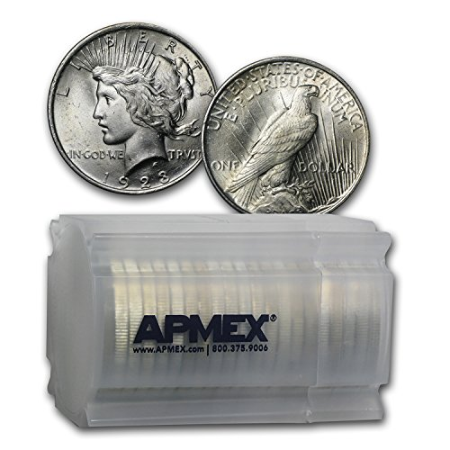(1923 Peace Dollar BU (20-Coin Roll) $1 Brilliant)
