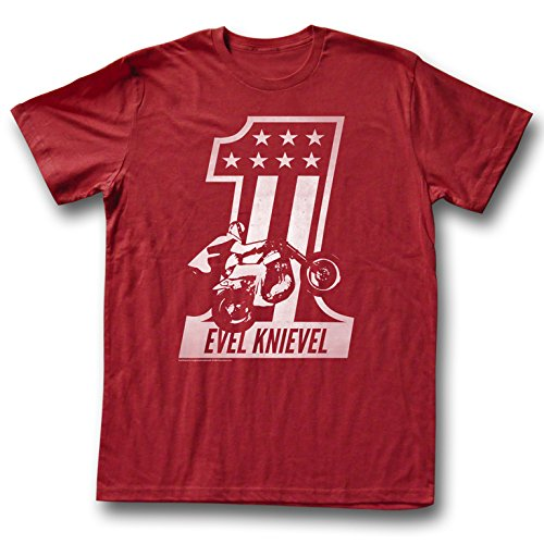 American Classics Apparel Evel Knievel One T-Shirt (X-Large) (RED) (Evel Knievel Shirt)