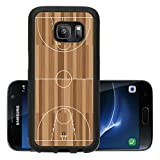 Luxlady Premium Samsung Galaxy S7 Aluminum Backplate Bumper Snap Case IMAGE ID 5973391 basketball court outline with wooden floor of gymnasium