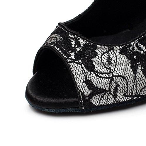 Hauts UK2 Samba Thé Danse Chaussures Sandales Salsa Silver Chaussures Talons JSHOE 5 Tango heeled6cm De EU32 Pour Femmes Our33 Moderne Jazz Latin Uqz8w