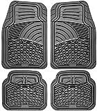 Motorup America Auto Floor Mats (4-Piece Set) All Season Rubber - Fits Select Vehicles Car Truck Van SUV, Shell Gray