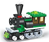 Super fast Train - 68 pcs building blocks steam engine locomotive railway train set comes with a 2 windows cabin, a great full time fun - a must gift for all 6+ children in Lego compatible parts