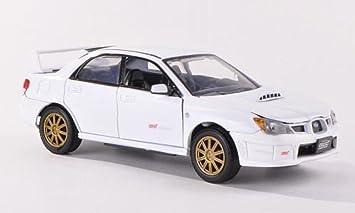 Amazoncom Subaru Impreza WRX STI white Model Car Readymade