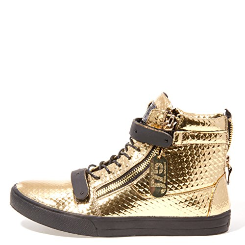 Jump J75 För Män Zion Rund Tå Strass Band Spets-up High-top Sneaker Guld