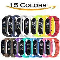 Acalder Correa para Xiaomi mi Band 4, Pulseras Reloj Coloridos Silicona Banda Reemplazo para Xiaomi Mi Band 3/4, Compatible