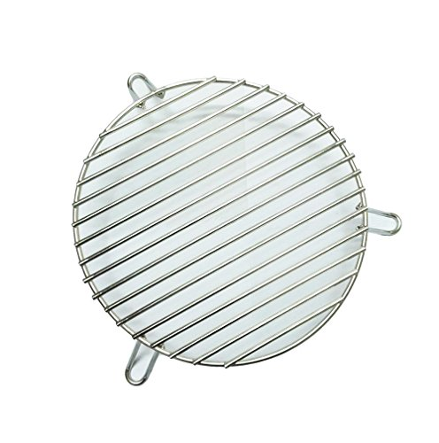 Broilmann Stainless Steel Dual-Purpose Indirect Cooking Rack for 18-inch-diameter cooking grills